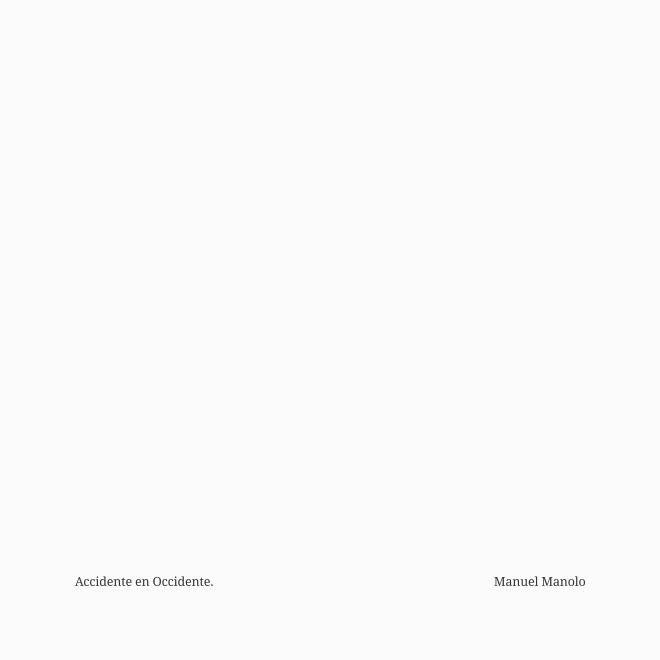 Manuel Manolo - Accidente en Occidente - Introducción a La rebelión de las masas, a cargo de Julián Marías (2011) - ED210730