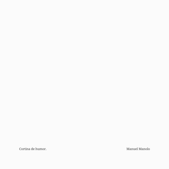 Manuel Manolo - Cortina de humor (2020) - ED210630