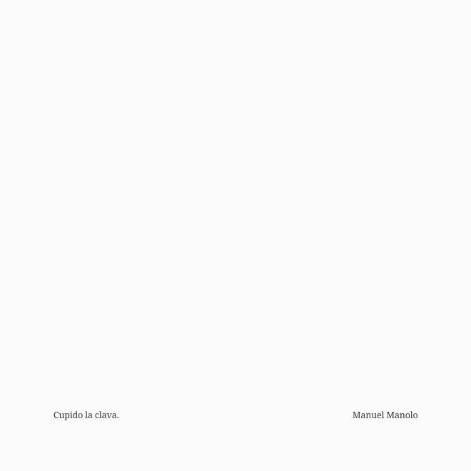 Manuel Manolo - Cupido la clava (2017) - ED210606