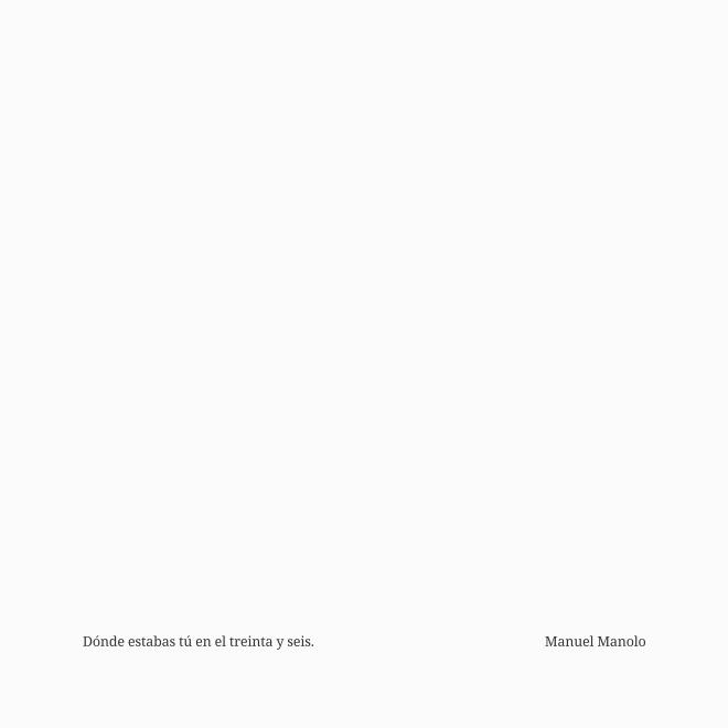 Manuel Manolo - Dónde estabas tú en el treinta y seis (2019) - ED210606