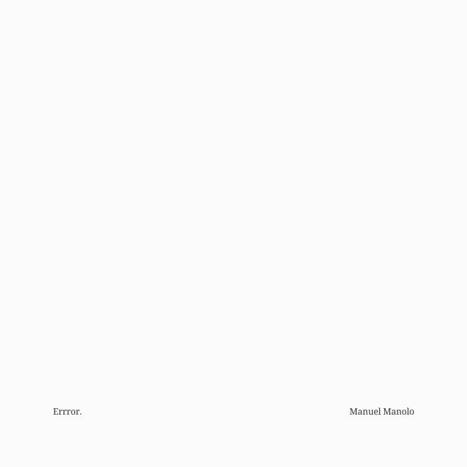 Manuel Manolo - Errror (2021) - ED210819