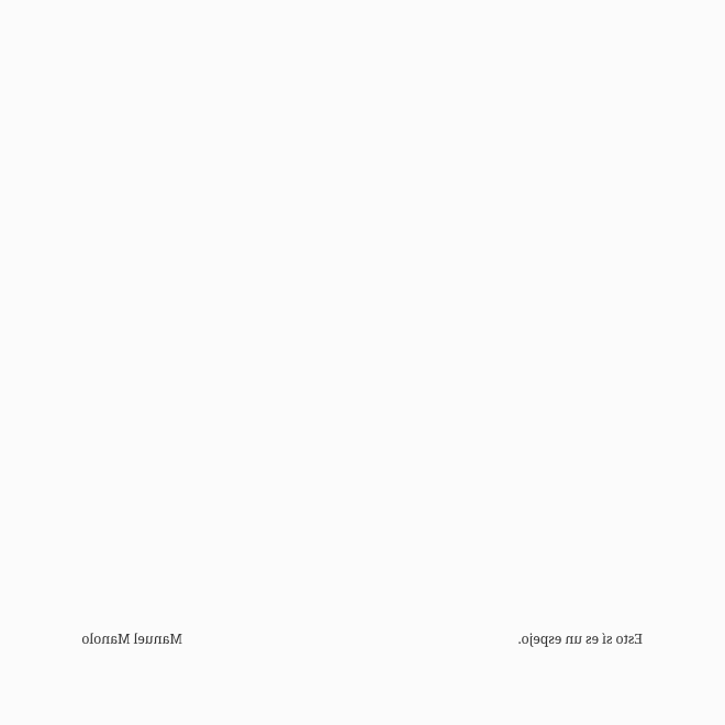 Manuel Manolo - Esto sí es un espejo (2020) - ED210606