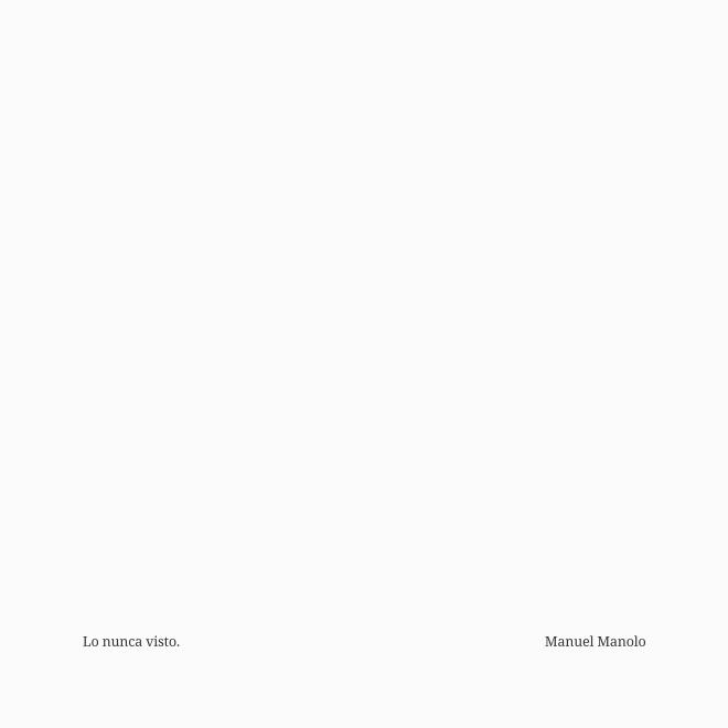 Manuel Manolo - Lo nunca visto (2021) - ED210601