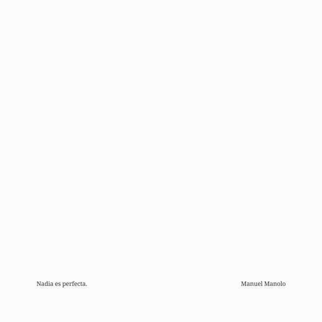 Manuel Manolo - Nadia es perfecta (2021) - ED210423